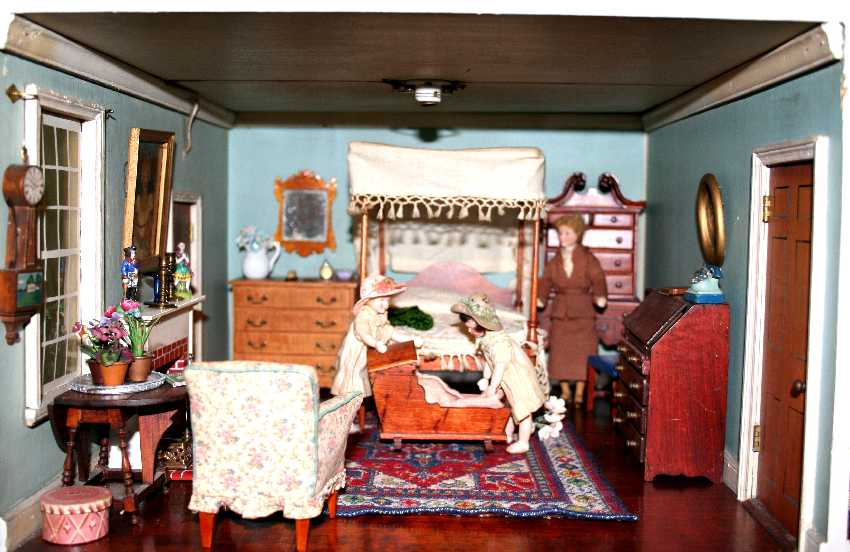 The Master Bedroom Is Furnished With A Rare MtVernon Canopy Bed Original Fringed And Candlewick Bedspread High Boy Scrolled Pediment